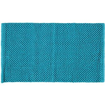 Allure Teal Chenille Bobbled Bath Mat