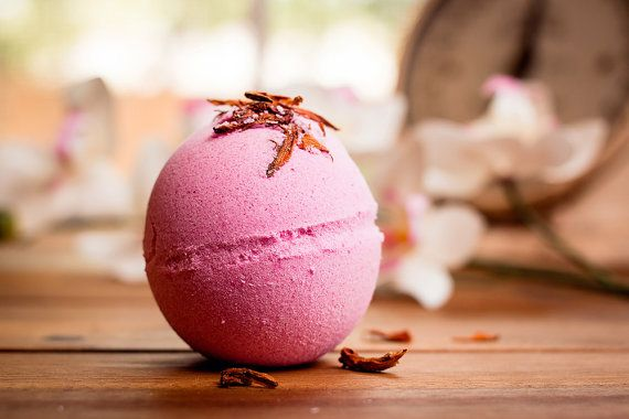 Mood Enhance Aromatherapy Bath Bomb - 5 Ounces , Fragrant, Bath Soak, Lily Flowers, Sea Salts ,Free Shipping