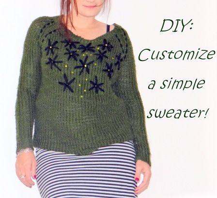 DIY-customize a sweater