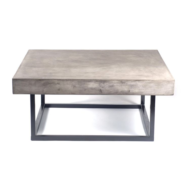 "Mia Concrete Coffee Table-1--for SV back patio--41"" square"