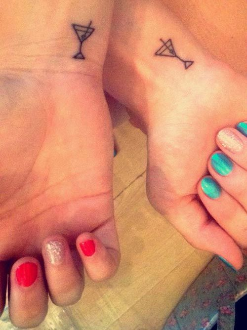 Tattoo for Wine Pals #bestfriend #bff #tattoo #womentriangle
