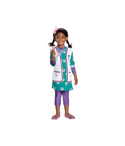 Little Girls' Doc Mcstuffins Vet Baby Costume - Toddler (3T-4T) *** You can get more details by clicking on the image.