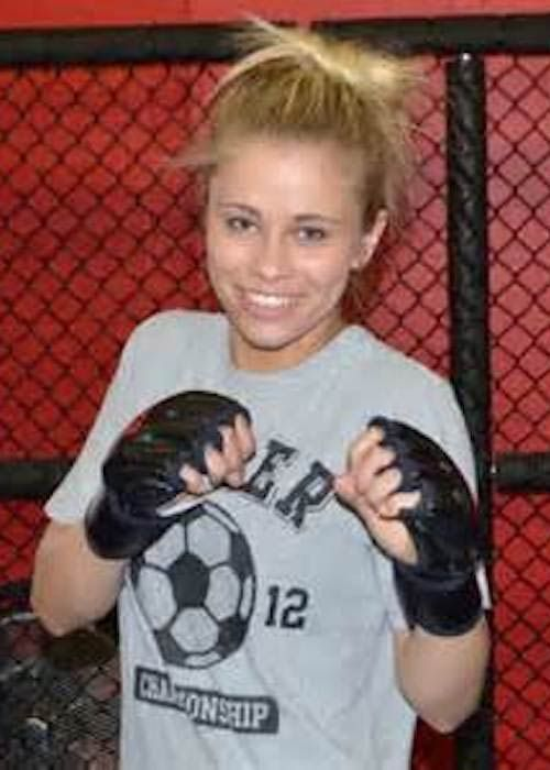 Paige VanZant prior to her first fight in Reno, Nevada in 2012...