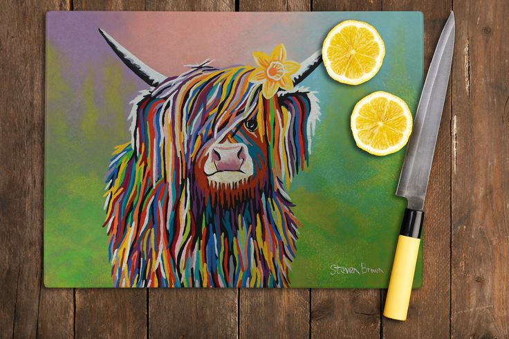 Marie McCoo - Artwork Designed Glass Chopping Board – Steven Brown Art