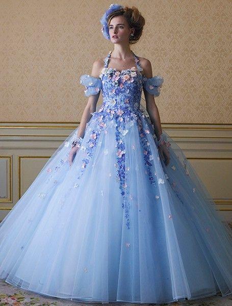 シンデレラみたい♡桂由美のお花のカラードレスが可愛すぎ♡にて紹介している画像