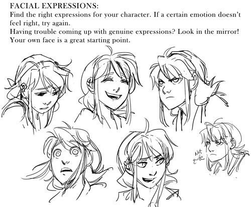 how to draw anime facial expressions