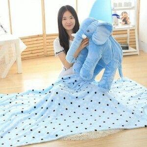 ผ้าห่มช้าช้างจร้า สีสันหวาน น่ารักมากคะ Line :kirin-shop