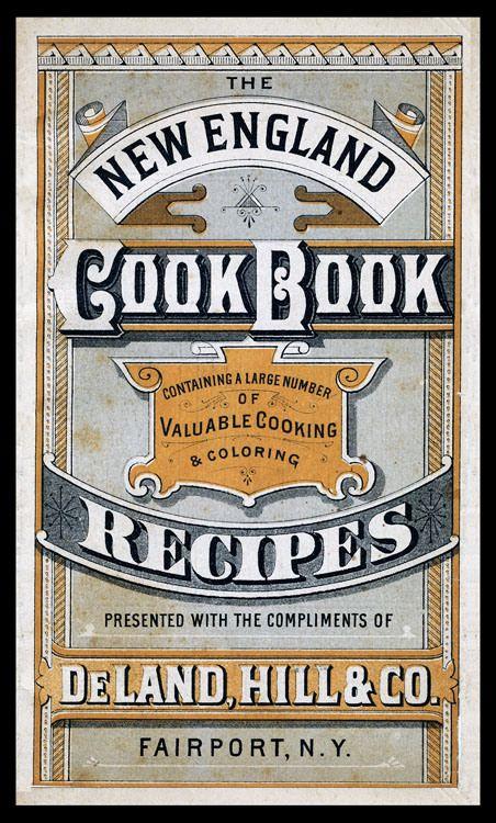 New England Cookbook / DeLand, Hill & Company | Sheaff : ephemera