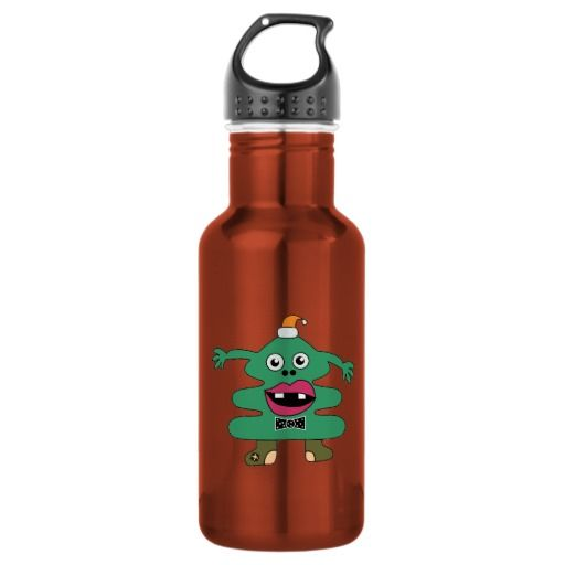 New Year Tree Cute Monster Liberty Bottle 18oz Water Bottle