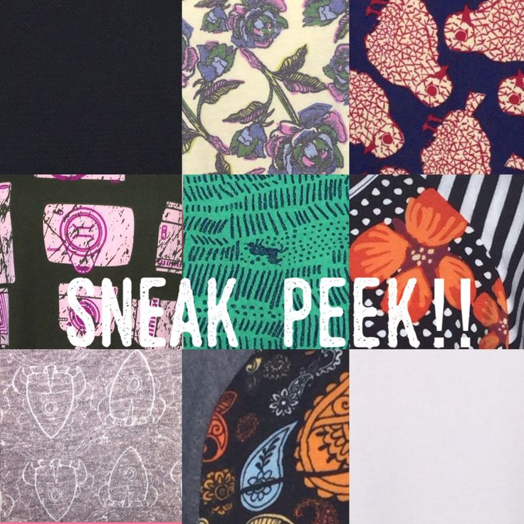 Sneak Peek for our album sale tonight!!! We got some amazing solids and prints!! Join our group! Link in bio or search LuLaRoe with the Burnettes on FB