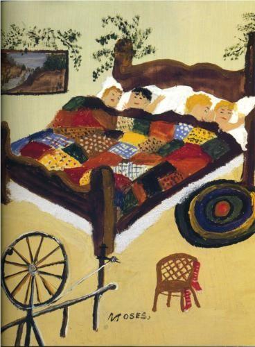 Grandma Moses (1860 - 1961) | Naïve Art (Primitivism) | Waiting for Christmas - 1960