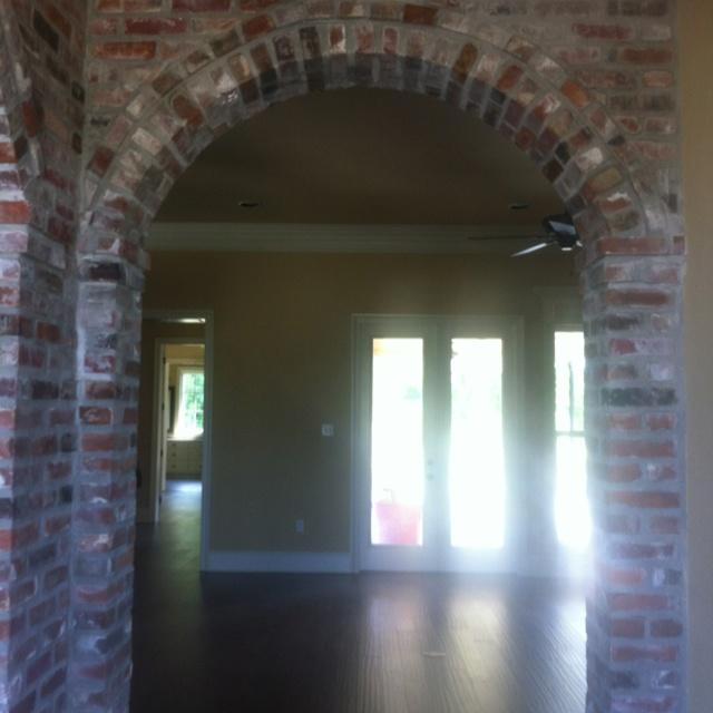 Brick Arch In Foyer New House Plans Pinterest Bricks
