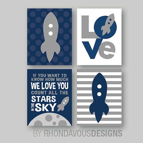 Raket kwekerij Art Boy kwekerij kunst Boy door RhondavousDesigns2