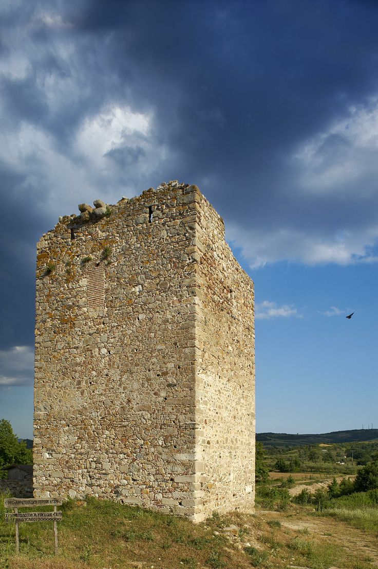 Krouna Tower in Ierissos, Halkidiki, Greece