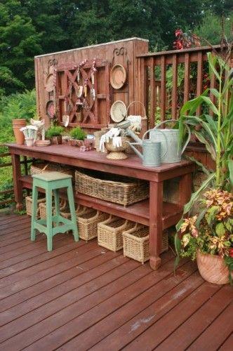 neat potting bench