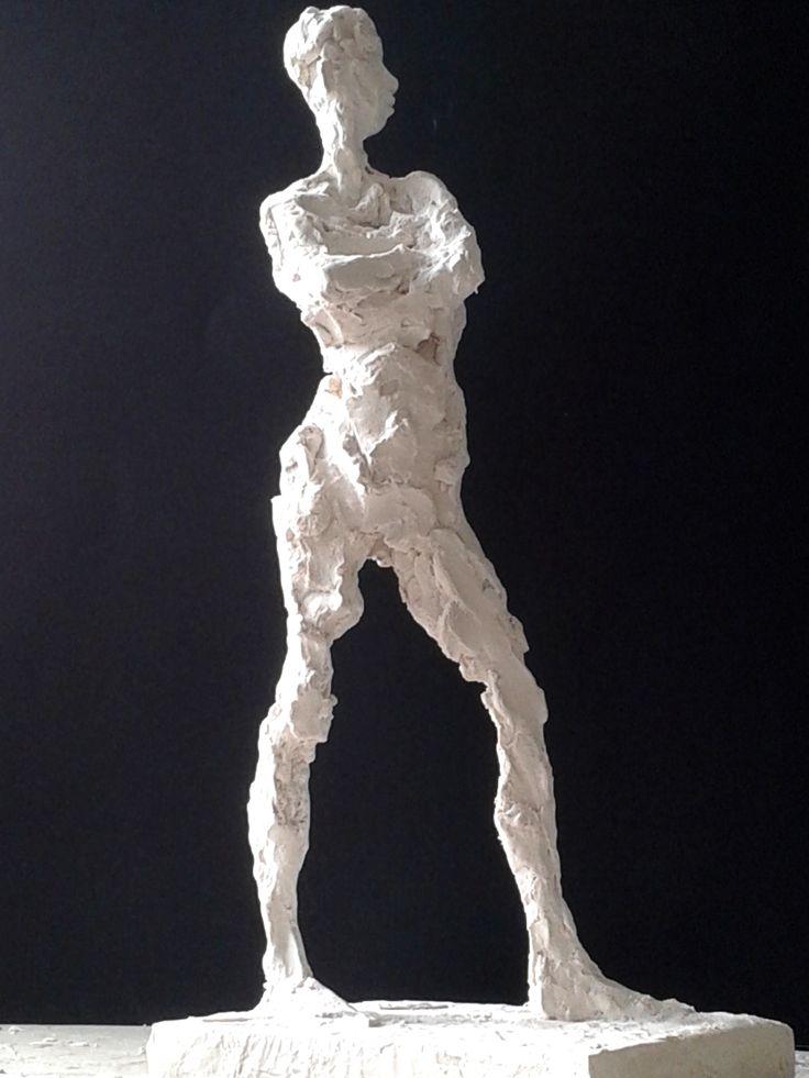 Resistant: jesmonite cast of clay sculpture. 35cm high