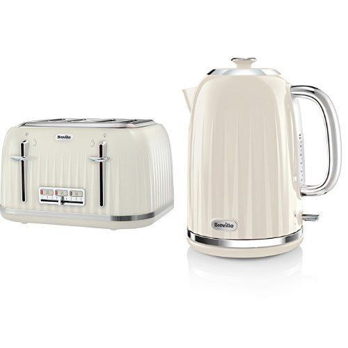Breville Impressions Kettle and Toaster Set Cream Kettle & 4 Slice Toaster New in Home, Furniture & DIY, Appliances, Coffee, Tea & Espresso Making | eBay