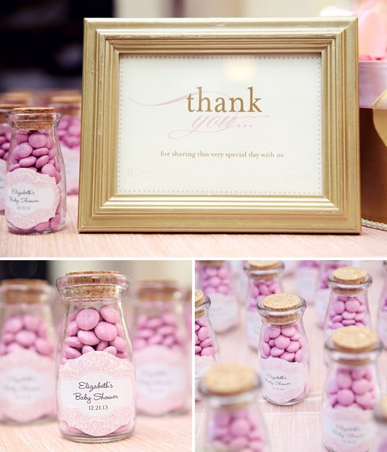 Cute packaging on these M&M baby shower favors! Photo by @Melody Gee Melikian Photography