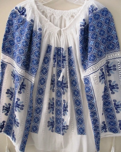 Handmade Romanian Products   Peasant Blouse 1001