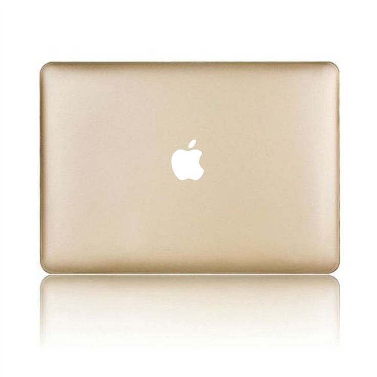 Dealgadgets Rubberized Frosted Matte Surface Hard Shell Case Cover for Macbook Air 13: GOLD