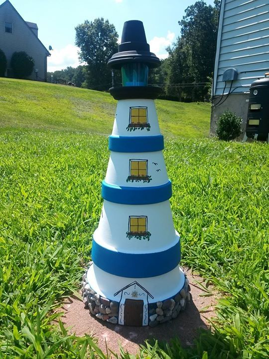 Pekes Artistry terra cotta light house