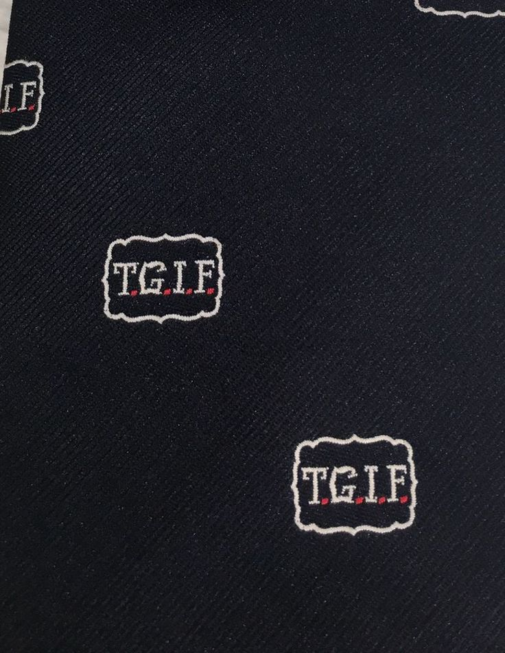 TGIF Bronzini Fun Clubs Necktie Navy Men's Tie Thank Goodness It's Friday! Fun #Bronzini #Tie