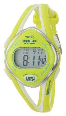 Relógio Timex Women's T5K656 Ironman Sleek 50-Lap Lime Resin Strap Watch #relogio #timex