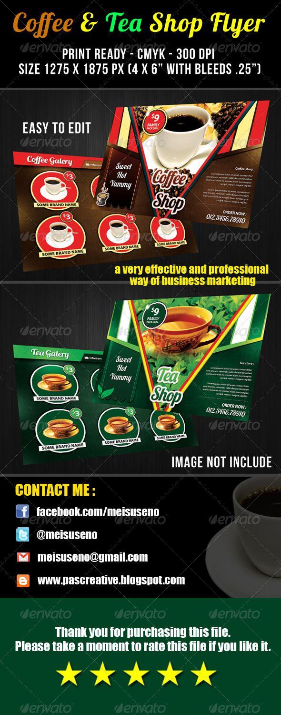 Coffee & Tea Shop Flyer Template - graphicriver sale