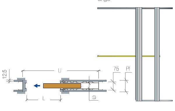 Scrigno Pocket Door Kit 24 30 Inch X 78 Inch Door Weight 100 Kg Sds London Sliding Door Handles Door Fittings Single Doors