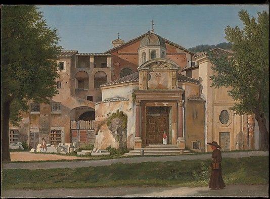 A Section of the Via Sacra, Rome (The Church of Saints Cosmas and Damian), Christoffer Wilhelm Eckersberg