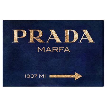 Bring a touch of chic style to your master suite or living room with this lovely canvas print, featuring the iconic Prada logo in an eye-catching metallic hu...