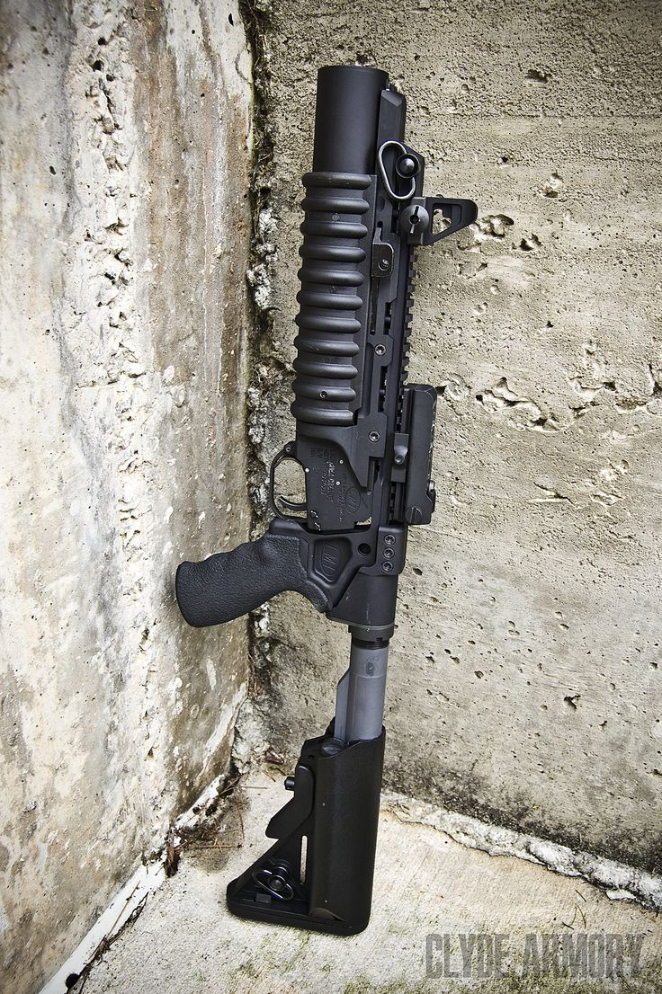 LMT's new standalone stock for the M203.  CLYDE ARMORY 