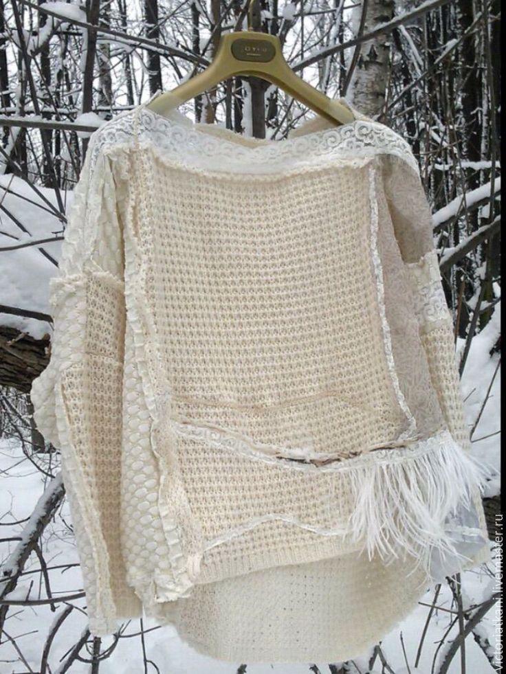 "Купить Свитер бохо-шик ""Зимушка-зима"" - свитер, свитшот, свитер женский, бохо"