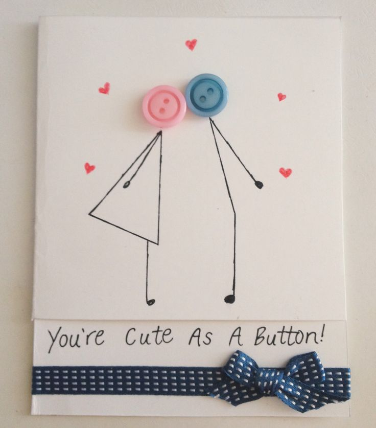 Cute as a button card for my boyfriend! More