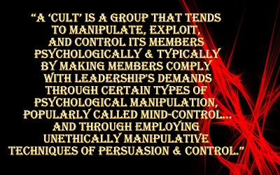 cult activities and psychological manipulation Mystery manipulation murder cults are associated with all of these but what really goes on inside a cult more specifically, what goes on inside the mind.