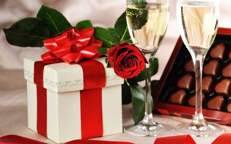 gift and rose for love