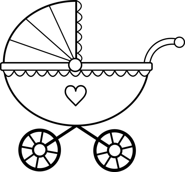 Black And White Google: SCAL SVG Baby Stroller Buggy