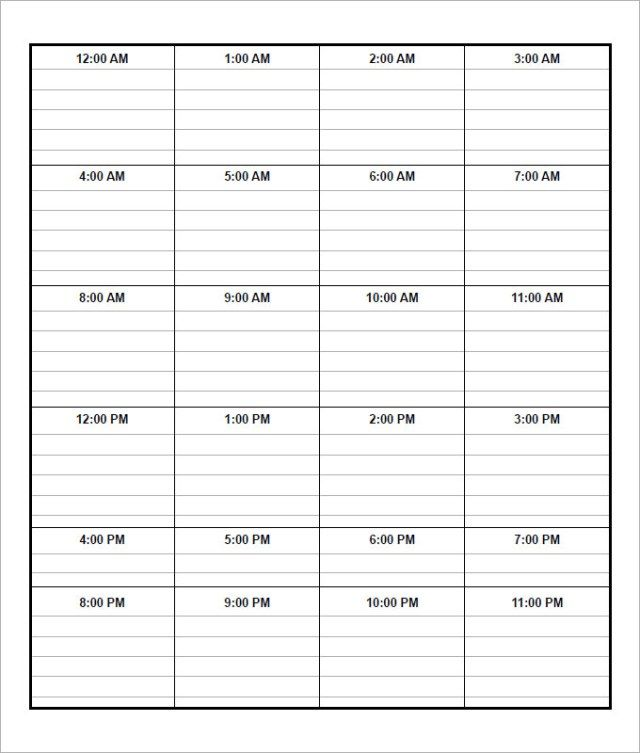 21 Sample Free Daily Schedule Templates  Daily Planners Word Excel