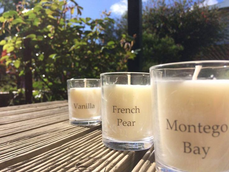 We have essential oil and fragrant oil votives. $6 each or 2 for $10. Available for purchase at http://www.trielleadelaidehills.com/