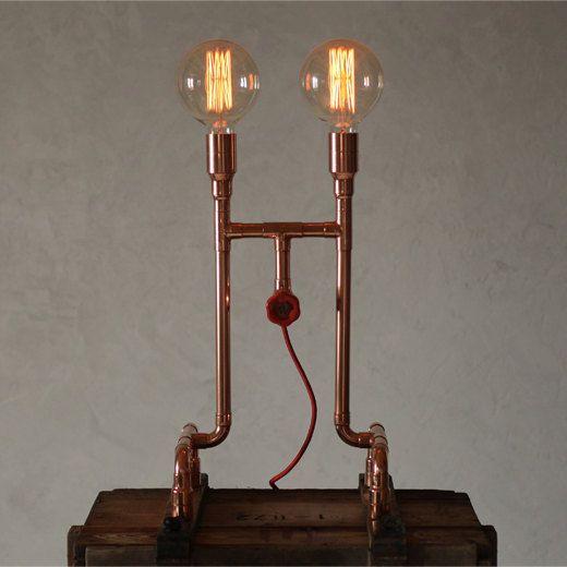 AERO Copper Table Lamp by Zapalgo on Etsy, $490.00