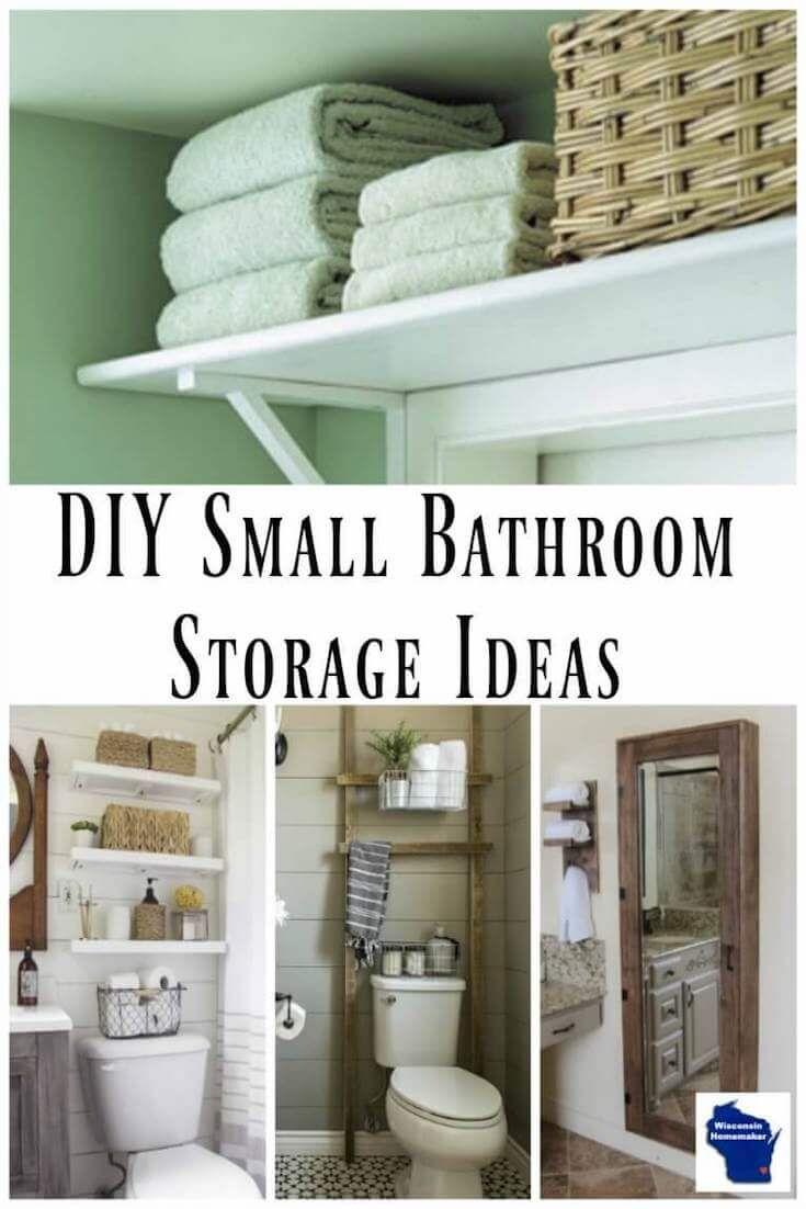 9 Best Diy Small Bathroom Storage Ideas Small Bathroom Storage Small Bathroom Diy Diy Towel Rack