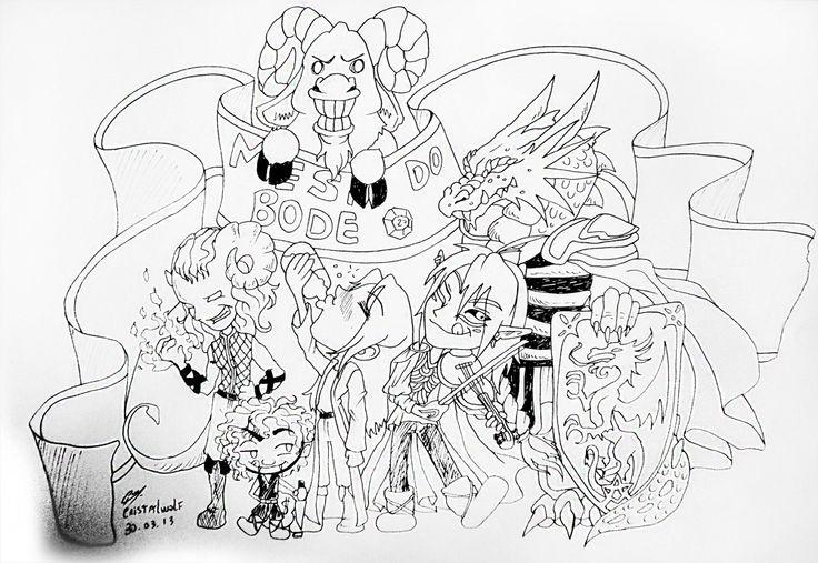 Mesa de RPG D&D - Mesa do Bode