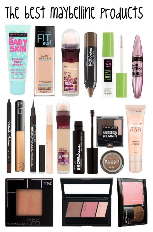 """""""The best maybelline products"""" by sabrinagirl17 ❤ liked on Polyvore featuring beauty and Maybelline"""