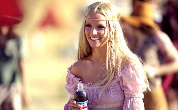Britney Spears Filming a Pepsi Commercial on January 31, 2002 - Pepsi/Getty Images
