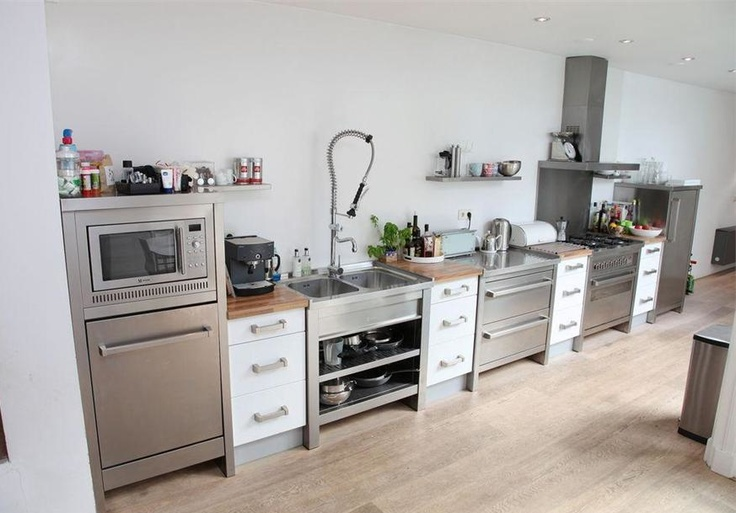 Best keukens roestvrij staal images kitchens