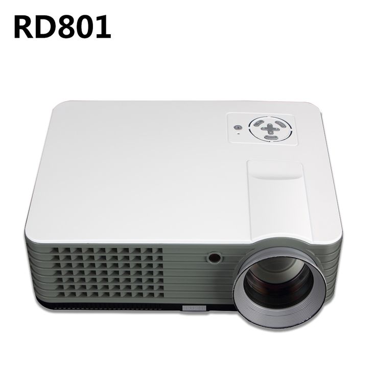 LED Projector RD801 Full  2000 Lumens Support Data Show TV Games Home Cinema Theater Video HD 1080P