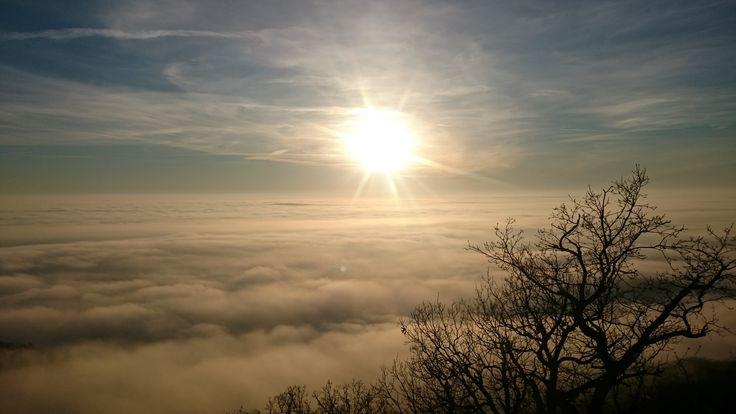 Naplemente a felhők felett (Börzsöny)