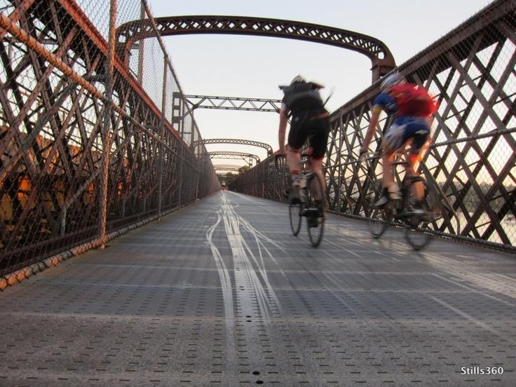 Bike path on Meadowbank Bridge, Meadowbank, NSW. #Cycling #Bicycle #Bike #Path #Meadowbank #Bridge #CityofRyde #RydeLocal