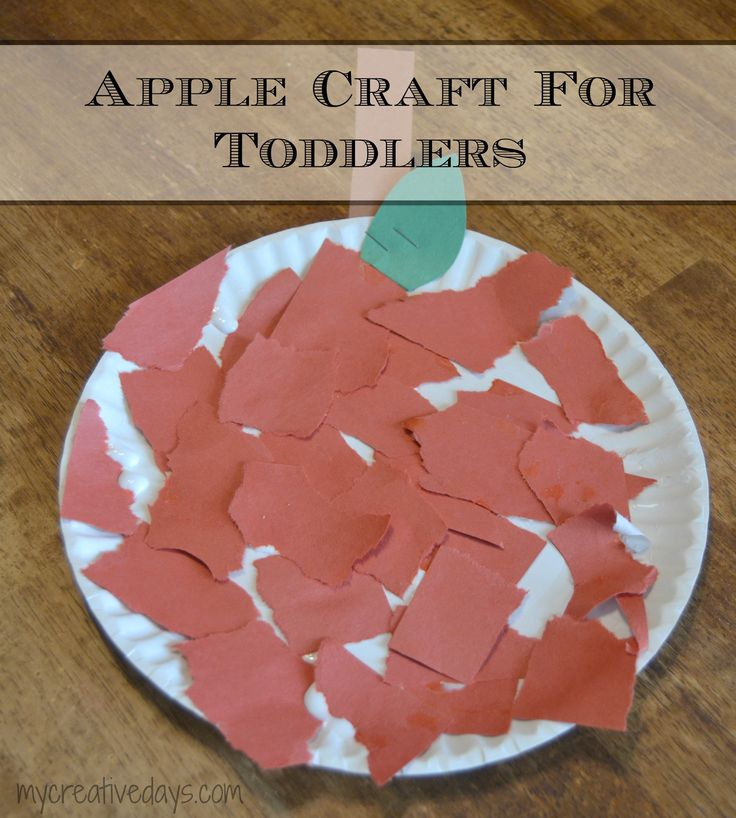 Apple craft for toddlers applecraft for F crafts for toddlers