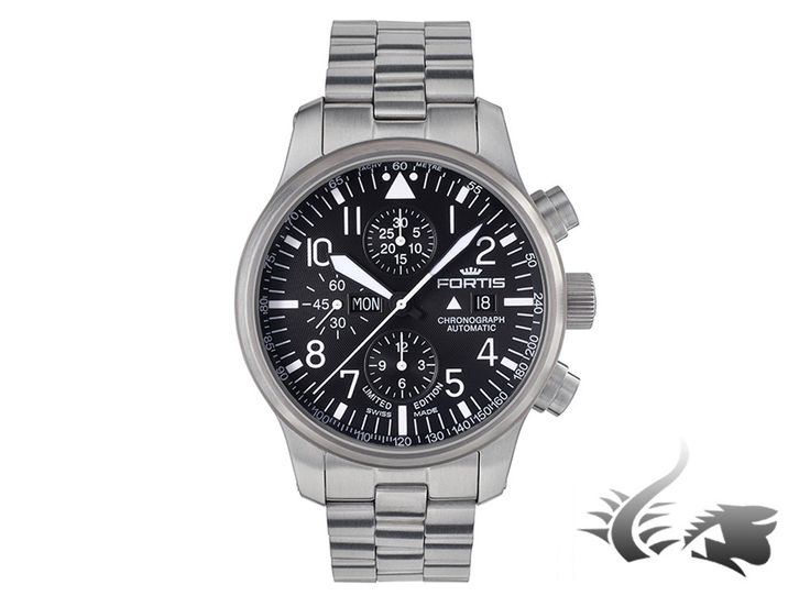 Fortis F-43 Stealth Chronograph Automatic Watch, ETA 7750, Black, Limi | Iguana Sell